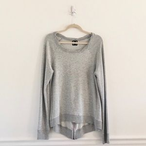 H by Bordeaux Grey Zipper Sweatshirt
